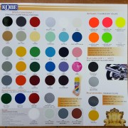 Kobe Acrylic Paint Shade Card
